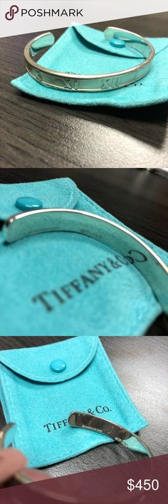Tiffany & Co Sterling Silver Atlas Bangle 100% authentic Tiffany bangle. Atlas collection, sterling silver in excellent condition!!! Tiffany & Co. Jewelry Bracelets