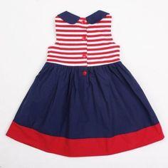 vestido marinero niña - Buscar con Google Toddler Dress, Baby Dress, Kids Outfits Girls, Girl Outfits, Little Girl Dresses, Girls Dresses, Princes Dress, Baby Frocks Designs, Frocks For Girls