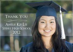 Custom 'Thank You' Graduation Announcement 2012 DIY with Photo - Digital File or PRINT