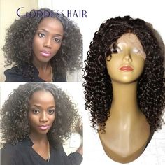 Short curly bob wigs middle part 150% curly full lace human hair wigs bob curly lace front wigs for American Africa women
