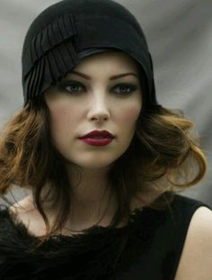 Beautiful and the hat just suits her