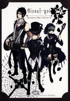 I love the way Sebastian looks, but I don't get why the doll maker is in the picture. And why is Ciel wearing a dress?