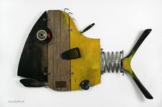 GAS wall sculpture recycling art artwork made in от ScoobaFish