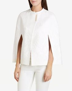Jacquard cape - White | Jackets & Coats | Ted Baker UK