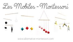 Discover all Montessori mobiles – Tutorial + Free Patron! Mobile of Munari, Mobile of the octahedrons, Mobile of Gobbi, Mobile of the dancers www. Mobile Montessori, Montessori Education, Montessori Activities, Infant Activities, Diy Bebe, Maria Montessori, Wishes For Baby, Play To Learn, Kids And Parenting