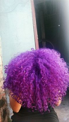 natural curly hair | hair inspiration | purple | 3b
