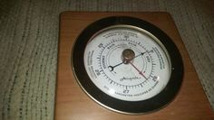 VTG-Airguide Barometer,WALLHANGER,wood,metal,glass,works,retro,decor,must see