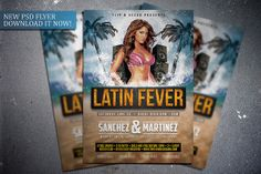 Latin Fever flyer template. Get it here: http://graphicriver.net/item/latin-fever-flyer-template/7829487?WT.ac=portfolio&WT.z_author=FlipNGecko