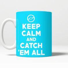 Pokemon Keep Calm And Catch 'Em All 11 oz Mug - NerdKudo - 6