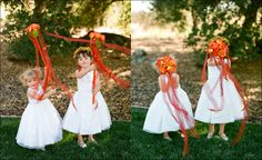 cute flower girl idea! flower wands! whaaaaat?! lol my flower girl carly will have one of these.