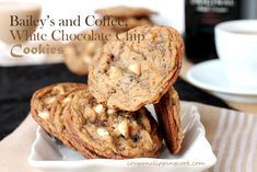 Bailey's and Coffee White Chocolate Chip Cookies