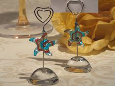 Murano Art Deco Collection Starfish Place Card Holder