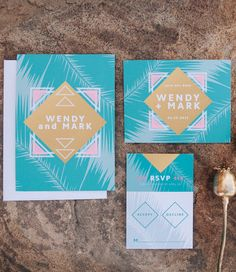 The Retro Paradise has a tropical feel that can be personalized in over 160 colors so that it can match you wedding colors perfectly.