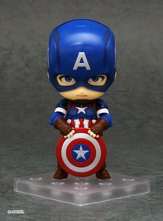 Nendoroid Captain America Hero's Edition Avengers Age of Ultron # 618 PVC Action Figures Collectible Model Kids Toys Doll Chibi Marvel, Marvel Heroes, Captain Marvel, Captain America Toys, Captain America Wallpaper, Avengers Cartoon, Avengers Age, Avengers Wallpaper, Disney Infinity