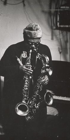 Rahsaan Roland Kirk, Photo by W. Eugene Smith.