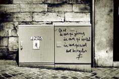 fauve2bis Happiness Therapy, Blabla, Graffiti Quotes, Sweet Words, Street Art Graffiti, Pretty Art, My Best Friend, Texts, Lyrics