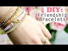 Subscribe for more easy DIYs here: http://goo.gl/ghYmb1 In this friendship bracelet DIY I'm going to show you how to make 4 different bracelets that are easy...