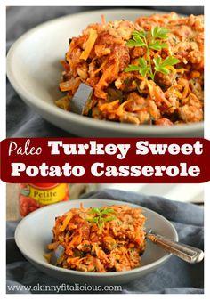 Paleo Turkey Sweet Potato Casserole With Eggplant & Tomato {GF, Paleo, Low Cal} #AD #YesYouCAN