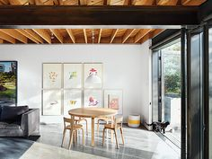Alvar Aalto dining set in a modern Vancouver home