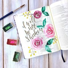 Bible Journaling By ScribblingGrace- If you have been following me for a while you'll know I make the same watercolor roses all the time in my journaling Bible. They are just so fun, easy, and pretty! Click my #linkinbio to learn how to make them myself! And be sure to watch the video to see