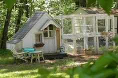 I covet this chicken house... what a lovely creation and reuse of materials.  Love this!  Brilliant!!!