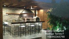 PERGOLAS Y QUINCHOS: quinchos Outdoor Kitchen Grill, Outdoor Kitchen Design, Outdoor Patio Designs, Patio Ideas, Barbacoa, Backyard Patio, Gazebo, Outdoor Living, Bbq