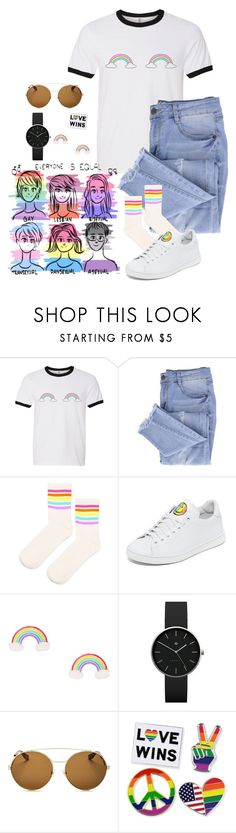 """Happy Pride"" by bubble-tea-dan ❤ liked on Polyvore featuring Essie, Topshop, Joshua's, Newgate, Givenchy, pride and lgbt"