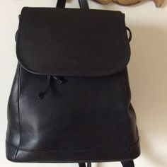 L.L.Bean leather backpack Gently used backpack.  A few small marks on leather, but really nice condition.   Clean inside. L.L. Bean Bags Backpacks
