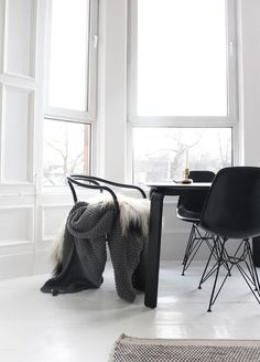 super white space with black and gray decor