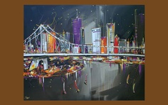 brisbane artist Cuevas is brilliant. Want one of her paintings Brisbane, Bridges, The Locals, Paintings, Artists, Gallery, Music, Musica, Musik