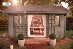 I am SO digging the whole 'she-shed' thing! One day! ....get busy hubby!