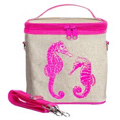 SoYoung Pink Seahorses Insulated Large Cooler Bag => To view further, visit now : Camping equipment