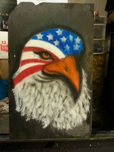 Airbrush slate from Andi Air Airbrushing on Facebook