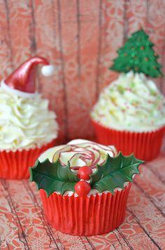 Cupcakes de Navidad sin receta pero con paso a paso y video