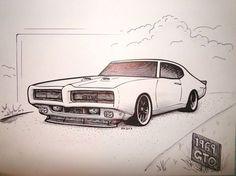 69 GTO Illustration