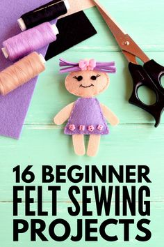 felt toys A collection of 32 felt projects for kids of all ages and abilities, including no sew ideas for toddlers, simple sewing projects for beginners, and more! Sewing Hacks, Sewing Tutorials, Sewing Crafts, Sewing Tips, Sewing Basics, Sewing Patterns Free, Free Sewing, Felt Patterns Free, Hand Sewing