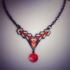 Fashion chic style necklaces New Ideas Diy Necklace, Necklace Designs, Fashion Necklace, Seed Bead Patterns, Beading Patterns, Beading Projects, Beading Tutorials, Beaded Jewelry, Beaded Bracelets