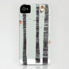 Robin Trees iPhone Case by Sandra Dieckmann - $35.00