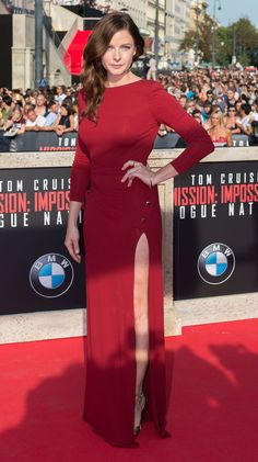 """Rebecca Ferguson - """"Mission: Impossible: Rogue Nation"""" Premiere in Vienna, July 23, 2015"""