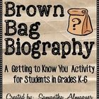 FREEBIE!  This Brown Bag Biography is designed as a getting-to-know-you activity for students of all ages.  I usually do this at the beginning of the school year, but you can use it any time!  It's a great time filler activity!  Give students a weekend to gather materials, and then have them present throughout the week.  Great way to create a classroom community!