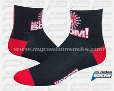 Socks designed by My Custom Socks for Carb Boom! in Cleveland, Ohio. Cycling socks made with Coolmax fabric. #Cycling custom socks - free quote! ////// Calcetas diseñadas por My Custom Socks para Carb Boom! en Cleveland, Ohio.. Calcetas para Ciclismo hechas con tela Coolmax. #Ciclismo calcetas personalizadas - cotización gratis! www.mycustomsocks.com