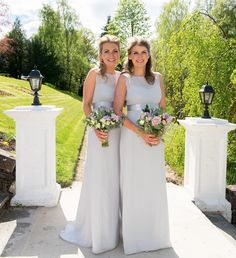 Dazzling Dove Grey Dresses! Beautiful Maids to Measure Bridesmaids in Dove Grey Charlotte Dresses, www.maidstomeasure.com