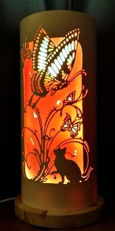 Butterfly Cat Lamp