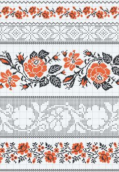 If you looking for a great border for either your crochet or knitting project, check this interesting pattern out. When you see the tutorial you will see that you will use both the knitting needle and crochet hook to work on the the wavy border. Cross Stitch Borders, Crochet Borders, Cross Stitching, Cross Stitch Patterns, Filet Crochet, Piping Patterns, Loom Patterns, Beading Patterns, Folk Embroidery