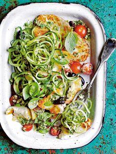 mediterranean cucumber salad from donna hay fresh + light issue - Zucchini Recipes Healthy Salad Recipes, Vegetarian Recipes, Cooking Recipes, Fast Recipes, Mediterranean Cucumber Salad, Mediterranean Recipes Lunch, Dinner Recipes, Dinner Ideas, Dessert Recipes