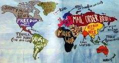 Another hilariously inappropriate world map