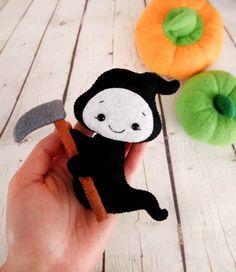 Ghost Little Death Grim Reaper Halloween Ornaments by BelkaUA