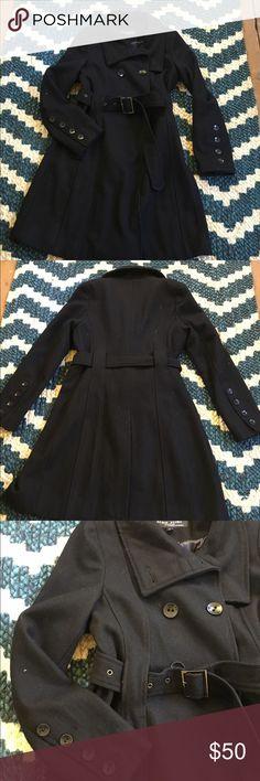 ✨weekend sale✨Black Rivet pea coat with belt Good quality coat in good condition. Black Rivet Jackets & Coats Pea Coats