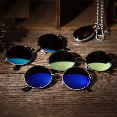 f189f7328f08  0.99 - Women Men Retro Vintage Round Mirrored Sunglasses Eyewear Outdoor  Sports Glasses  ebay