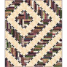 Hoffman Fabrics Bali Batiks Tortilla Tumbleweed Quilt Kit